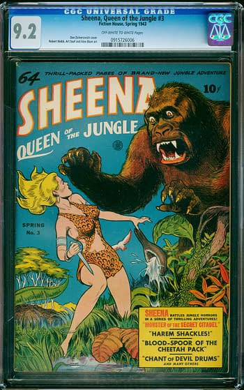 Sheena, Queen of the Jungle #3, Fiction House 1943.