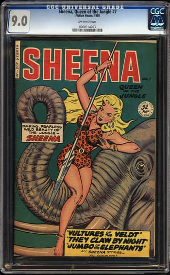Sheena, Queen of the Jungle #7, Fiction House 1950.