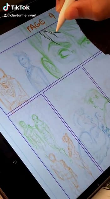 Clayton Henry, Drawing Unannounced DC Comics On TikTok