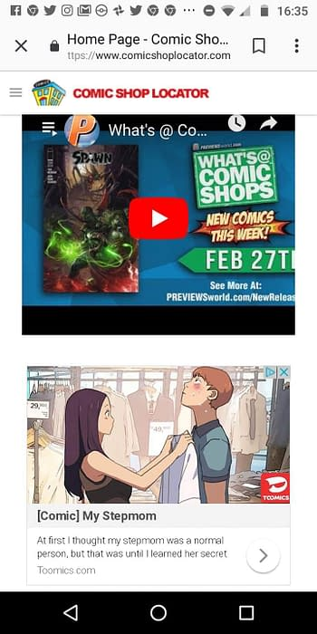 Diamond Relaunches Comic Shop Locator For Mobile Phones