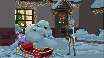 Dan Harmon Rick And Morty 2020 Christmas Rick Gives Goomby The Jerry Treatment in New Rick and Morty Clip