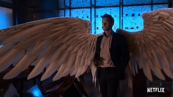 Lucifer Star Tom Ellis Talks Doing Double Duty Michael Differences