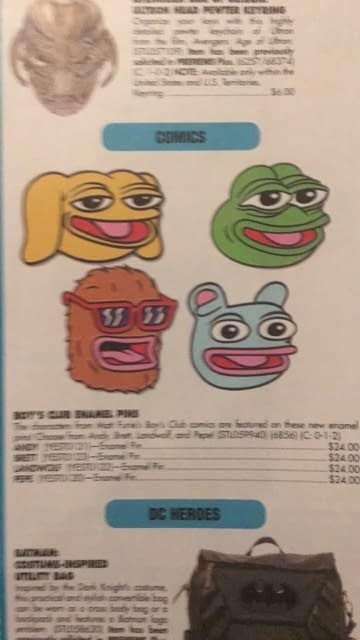 Official Pepe The Frog Enamel Pins Coming To Comic Stores In October – What Could Go Wrong?