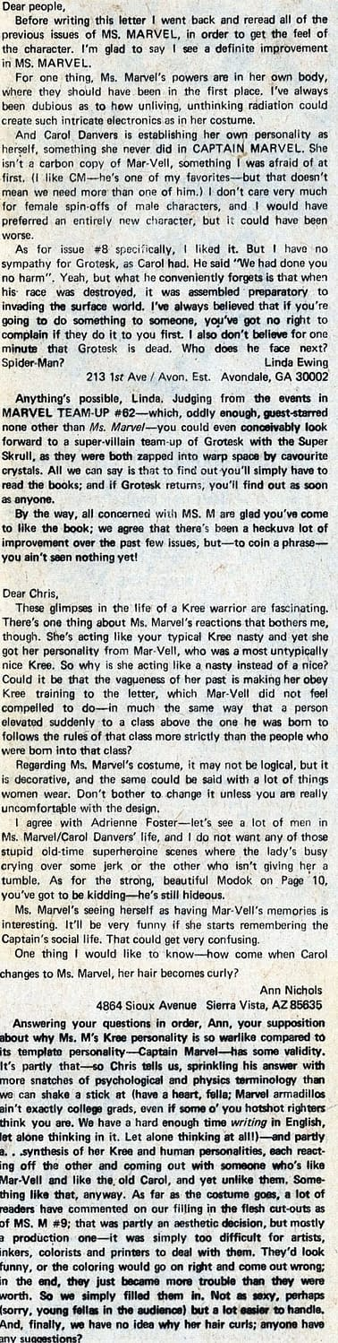 Fans React to Captain Marvel's Radical Feminist Identity Politics – From 1977