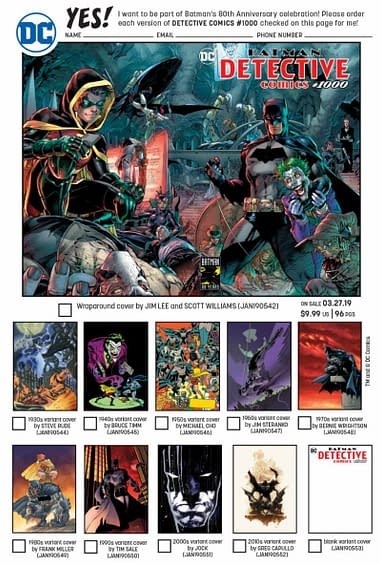 DC Comics Detective Comics 1000 1980 variant Frank Miller