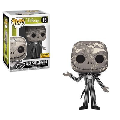 Funko Nightmare Before Christmas Jack Zero Artwork Pop
