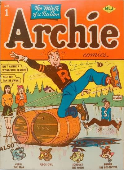The first cover to the MLJ Archie comic