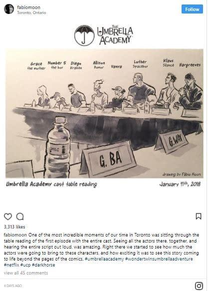 The Umbrella Academy: Gerard Way, Fabio Moon Offer Filming Updates