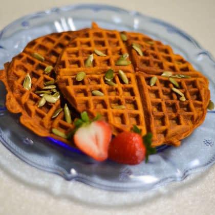 cinderella pumpkin waffles