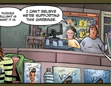 Max Bemis Brings The Most Savage Comic Store Satire Youve Seen In Crossed Badlands