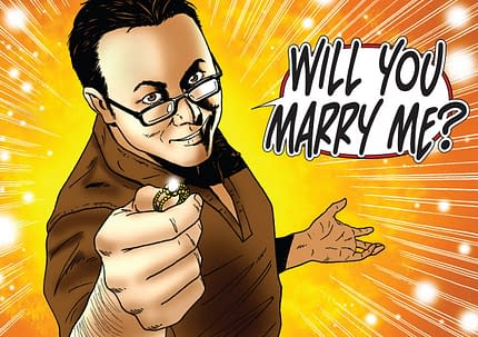 Leigh Gallagher Proposes By Comic. She Says Yes!