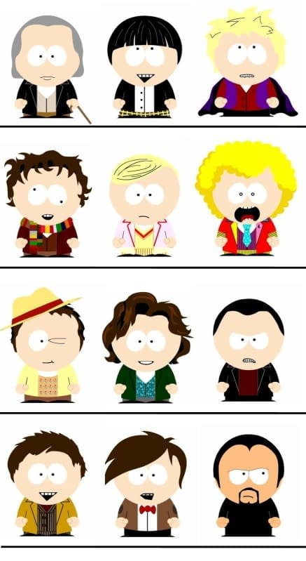 Eleven Doctors And A Master, South Park Style