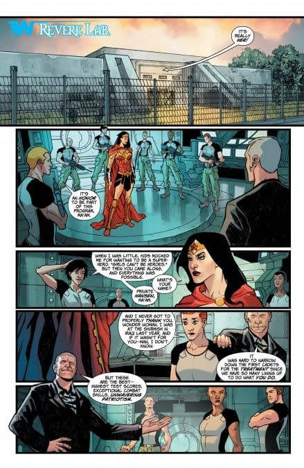 Interior art to Wonder Woman #30 by David Messina