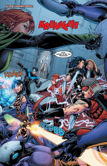 Titans #13 Review: Action And Heart Make Up For Hokey Romance