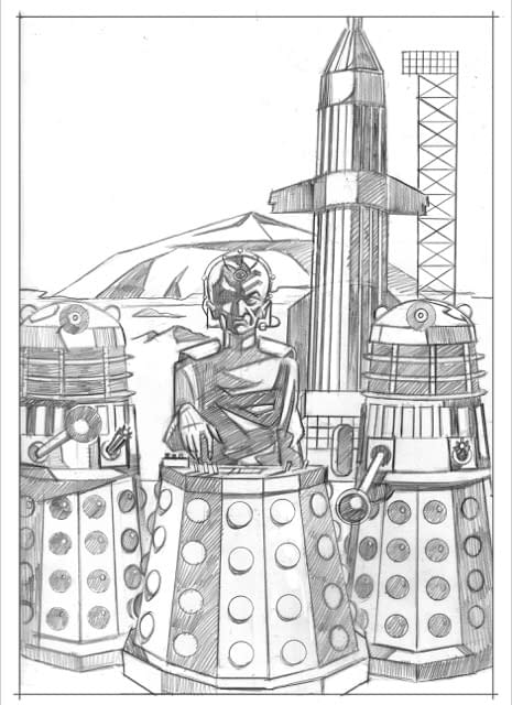 New Art Designs For Doctor Who Episodic Collection Debut For Black Friday, From Adrian Salmon and Rian Hughes