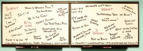 The DC Comics Real White Board Of Doom