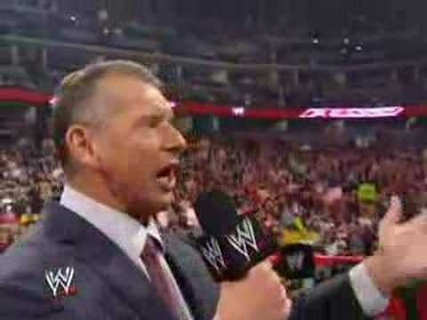 Vince McMahon has something to get off his chest on Raw, courtesy of WWE.