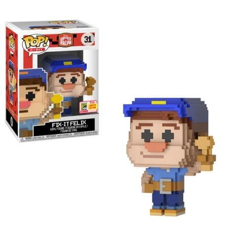 Funko SDCC Exclusive Disney Fix It Felix 8 Bit Pop
