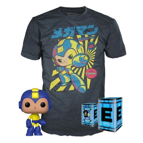 Funko Games Mega Man Game Cover Pop and Tee