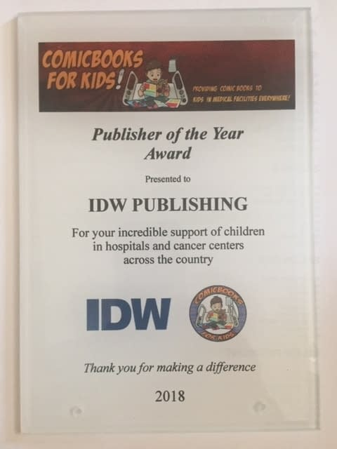 IDW, Diamond and Hooked On Comics in Pennsylvania Win Comic Books For Kids! Awards