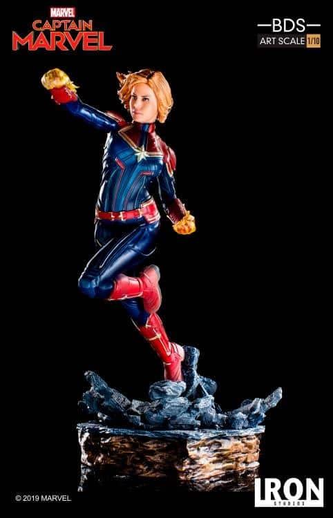 Captain Marvel Iron Studios Statue 2