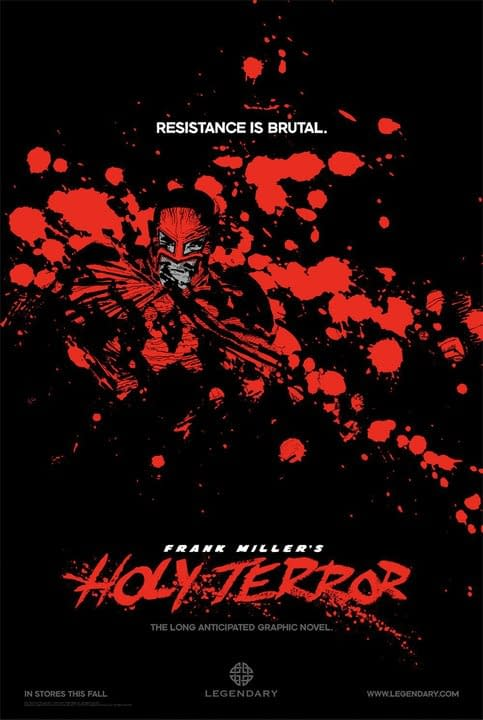 Frank Miller's Holy Terror Gets A Rather Red Poster – Plus First Five Pages