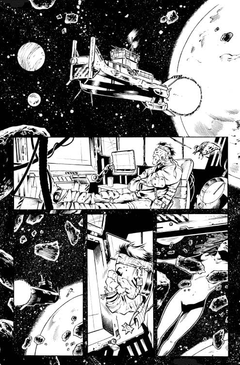 Andrea Mutti's Process Art for Swashbucklers: The Saga Continues #1