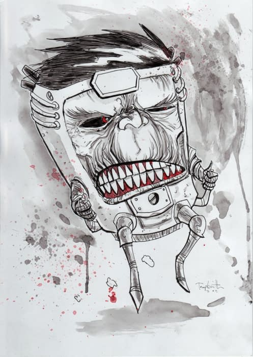 Forty Minutes To Sell Ben Templesmith's MODOK
