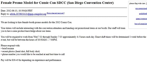Light Skinned Males Wanted As Cosplayers For San Diego Comic Con