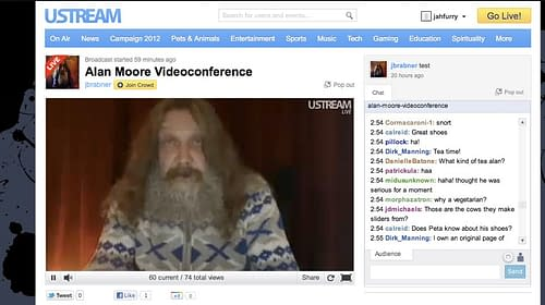 That Two And A Half Hour Alan Moore Webchat You Missed… (VIDEO BACK)