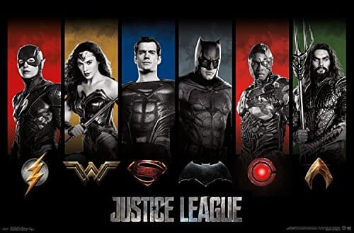 New Wall Poster Shows Off A Shirtless Aquaman, Plus More Justice League Posters