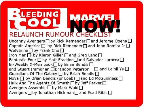 MARVEL NOW! The Marvel Relaunch Gets A Name