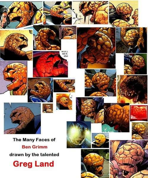 The Many Faces Of Greg Land's Ben Grimm