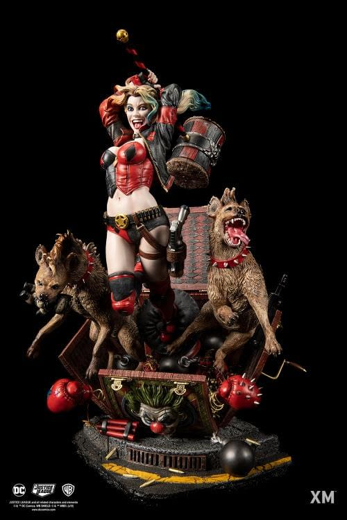 Harley Quinn Statue Coming from XM Studios is Beautifully Mad