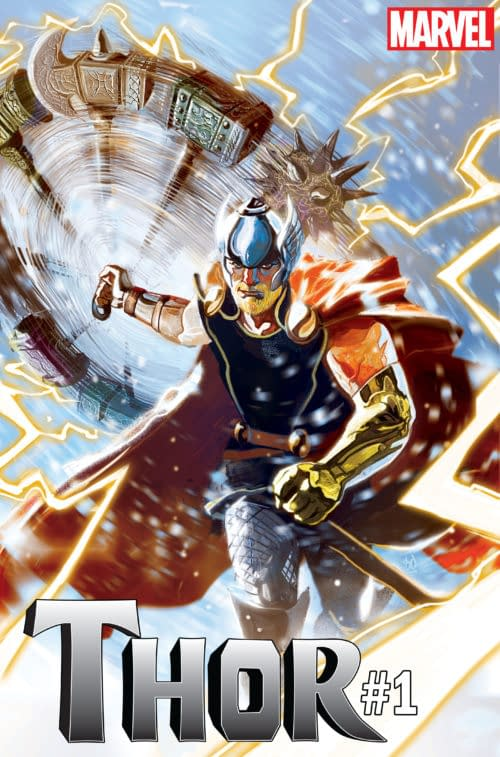 Jason Aaron and Mike del Mundo Launch New Thor #1 for Thor Odinson – and a New Hammer