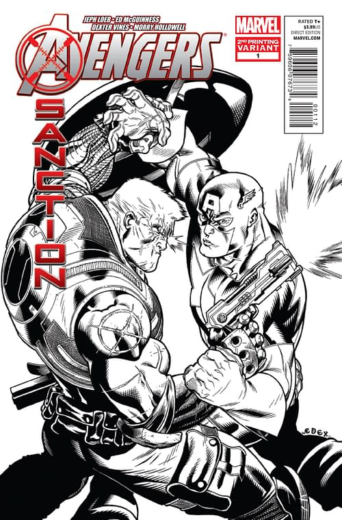 X-Sanction #1 Second Print Covers In Glorious Black And White