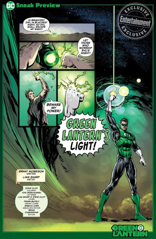 First Review: The Green Lantern #1 by Grant Morrison and Liam Sharp – From 2000AD to Preacher?