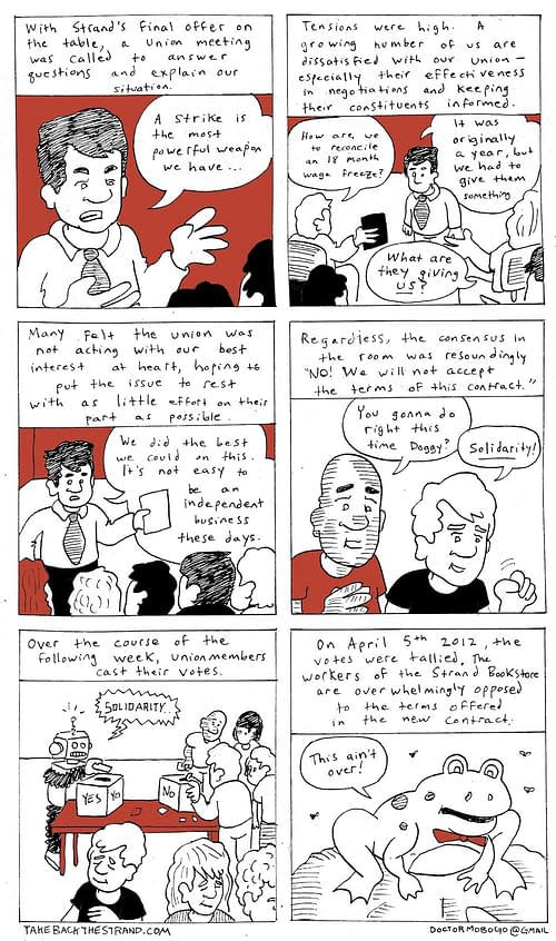 Strike At The Strand Bookstore: The Comic