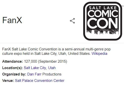"""FanX: Salt LakeComic Convention Still Using """"Formerly Salt LakeComic Con"""" Despite Court Ruling"""