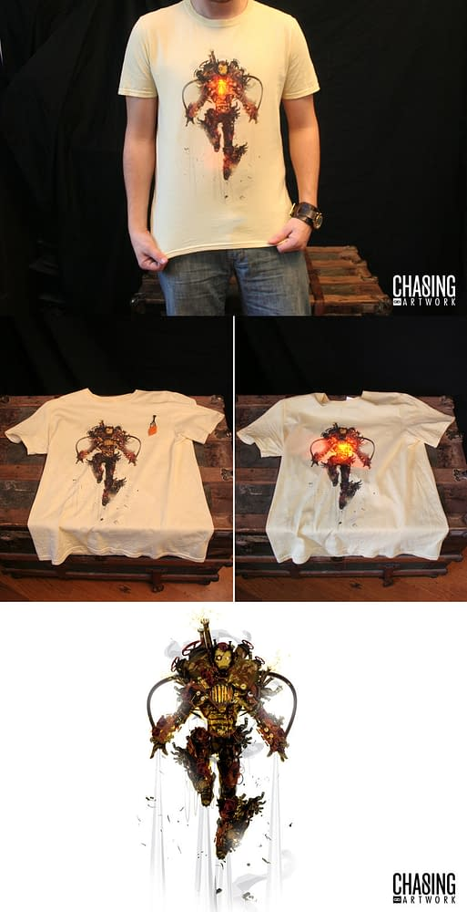 The Steampunk Iron Man T-Shirt That Lights Up Your Life. If You Have One.