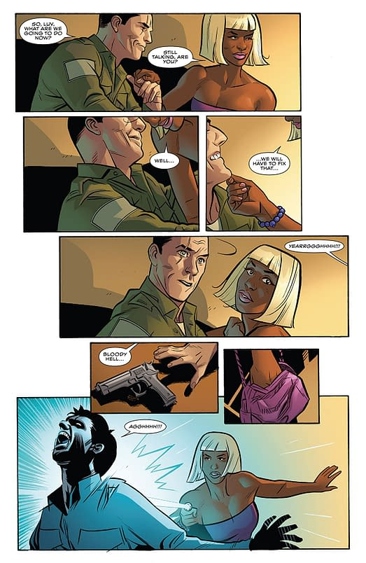 Interior art from Black Panther #18 by Wilfredo Torres and Laura Martin