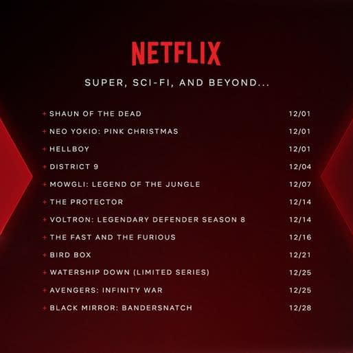 Netflix's NX December 2018: The Best in Super, Sci-Fi, The Fantastic, and Beyond!