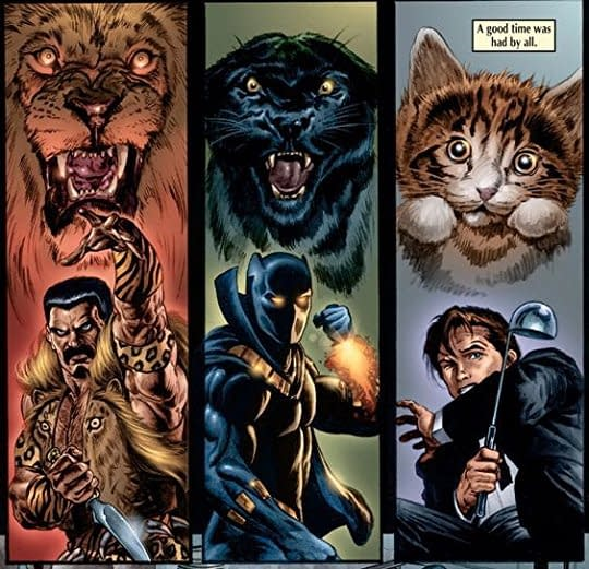 Marvel Knights Black Panther #6 art by Joe Jusko and Avalon Studios