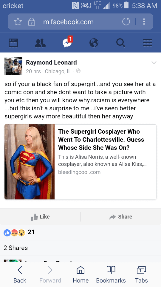 Holocaust-Denying Star Wars Cosplay Designer Stands With White Nationalist-Rallying Supergirl Cosplayer