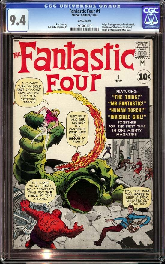 Metropolis Sells A Fantastic Four #1 CGC 9.4 for $300,000