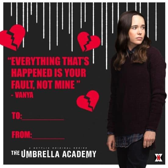 'The Umbrella Academy': Valentines for Your Super Messed-Up Loved Ones
