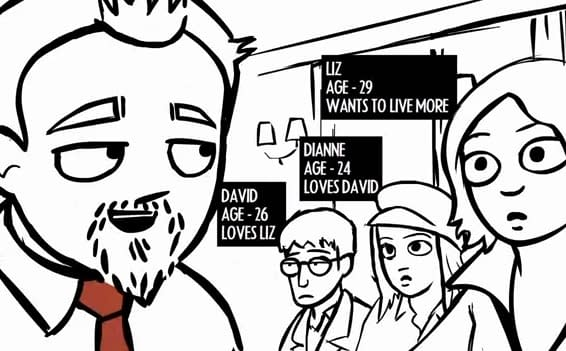What If Shaun Of The Dead Was Like Scott Pilgrim The Comic, But Only Sixty Seconds Long?