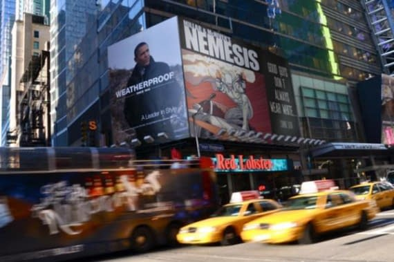 Mark Millar Takes Out Ad For Nemesis On Times Square (Or Not)