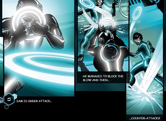 Tron Enhanced Digital Comic Treats Readers Like Simpletons