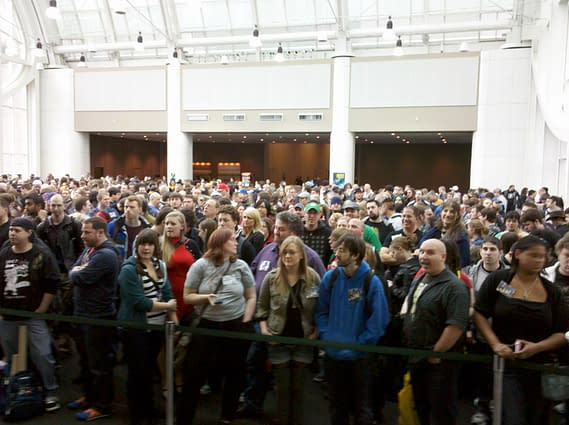 The Lobby To The Emerald City Comic Con Is A Madhouse